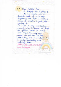 Zahabiya's letter